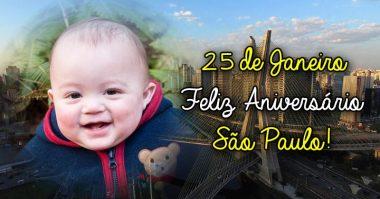 25 de Janeiro, feliz aniversário São Paulo