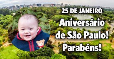 25 de Janeiro, parabéns São Paulo