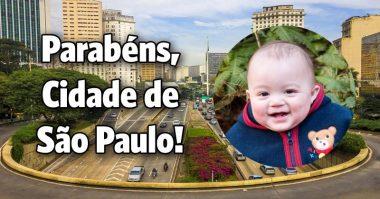 Parabéns cidade de São Paulo