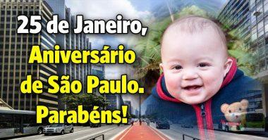 25 de Janeiro, aniversário de São Paulo, parabéns