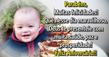 Que nesse dia maravilhoso, Deus te presenteie com prosperidade
