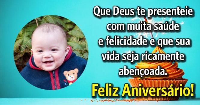 Que Deus te presenteie com muita saúde e felicidade