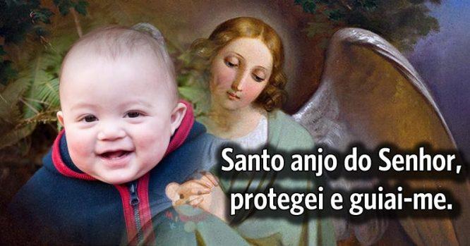 Santo anjo do Senhor, protegei e guiai-me