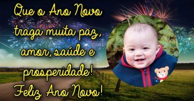 Que o Ano Novo traga muita paz, amor, saúde e prosperidade