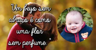 Um beijo sem abraço é como uma flor sem perfume