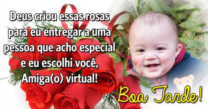 Rosas pra você, amigo virtual