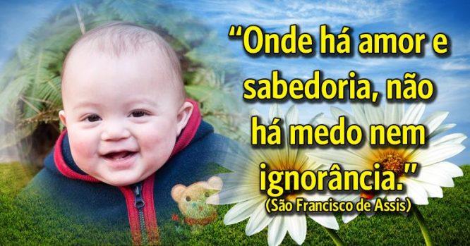 Onde há amor e sabedoria, não há medo e ignorância