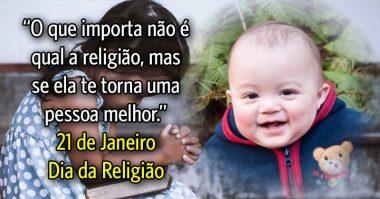O que importa não é qual a religião, mas se ela te torna uma pessoa melhor