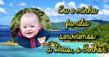 Eu e minha família serviremos ao Senhor