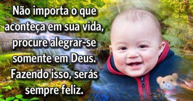 Procure sempre alegrar-se em Deus