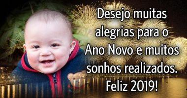 Desejo muitas alegrias para o Ano Novo