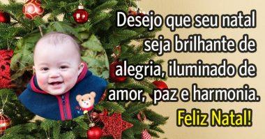 Desejo que seu natal seja brilhante e iluminado de paz e alegria