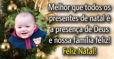 O melhor presente é a presença de Deus e a família feliz