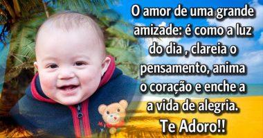O amor é como a amizade, enche a vida de alegria